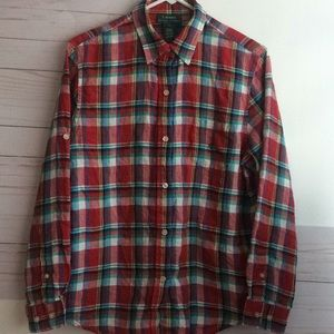 Large Lauren Ralph Lauren plaid longsleeve flannel